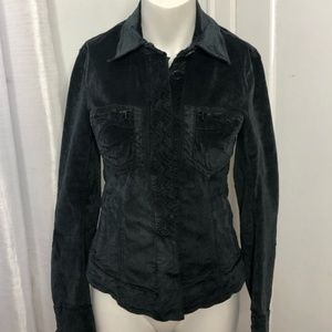 TR-900 Jacket Size 2 Blue Embroidered Velvet
